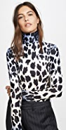 R13 Faded Leopard Turtleneck