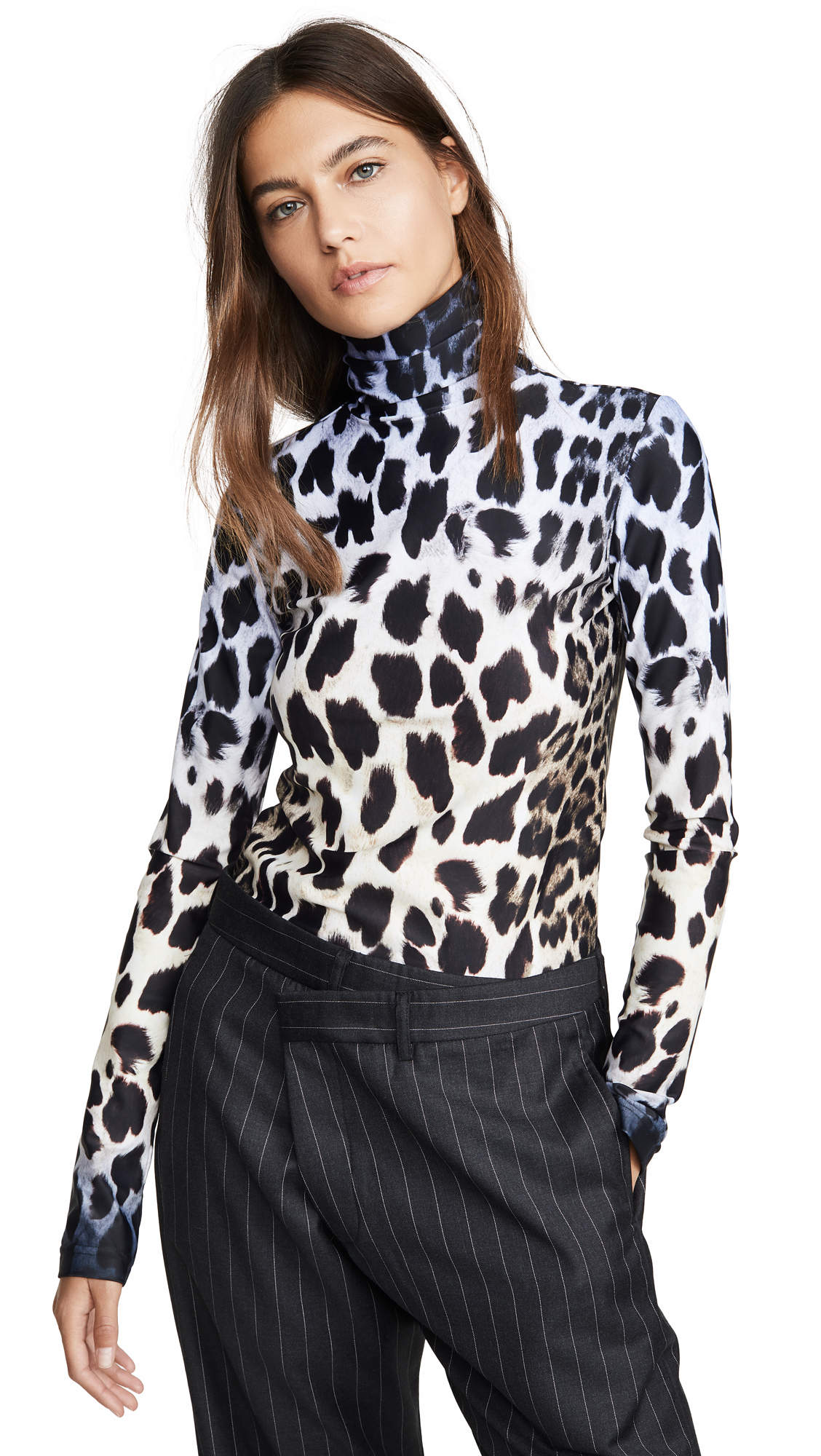 Buy R13 online - photo of R13 Faded Leopard Turtleneck