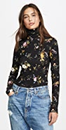 R13 Floral Turtleneck
