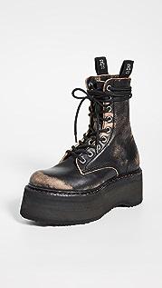 R13 双叠跟系带靴子