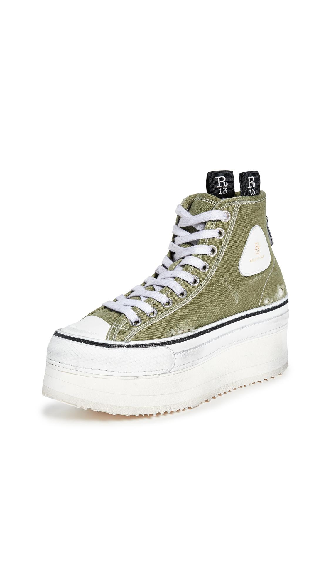 Buy R13 Platform High Top Sneakers online, shop R13