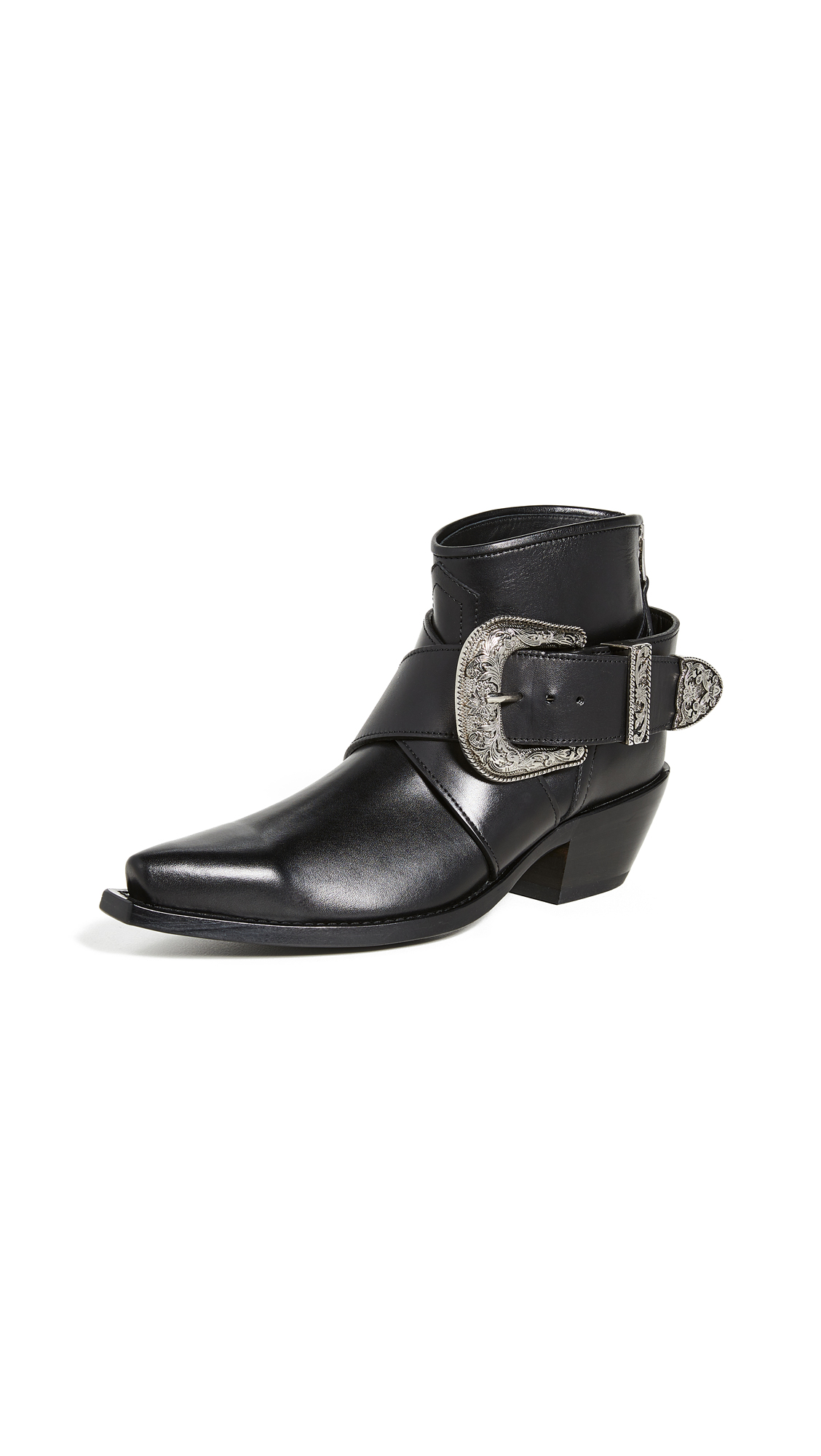 R13 Western Buckle Cowboy Booties - 60% Off Sale