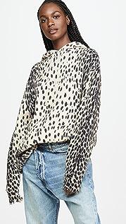 R13 Cheetah Cashmere Hoodie
