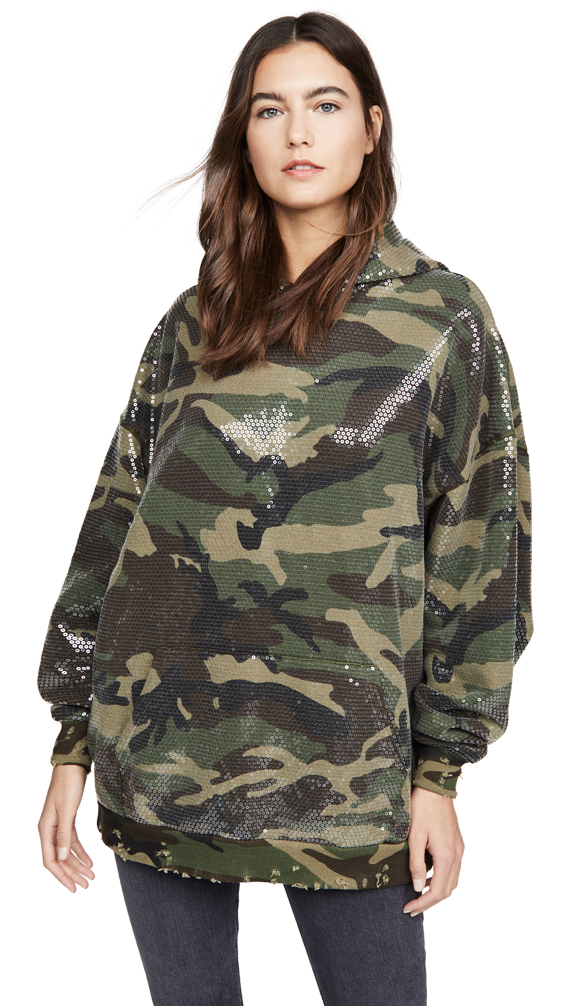 R13 Camo Sequined Hoodie - 30% Off Sale