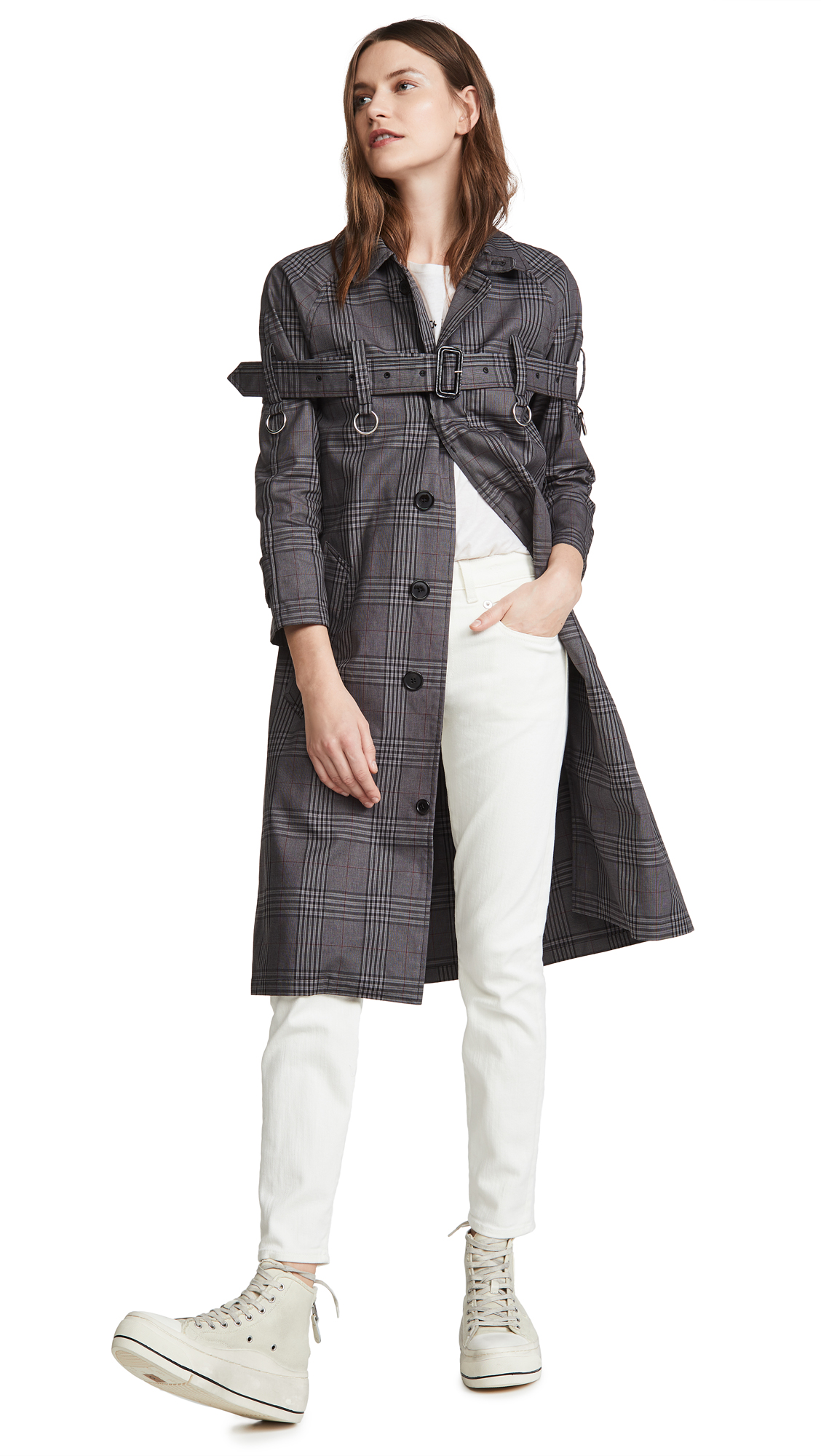 Buy R13 3/4 Sleeve Coat With Chest Strap online beautiful R13 Jackets, Coats, Trench Coats