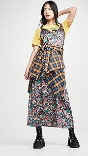 R13 侧边条纹长衬裙