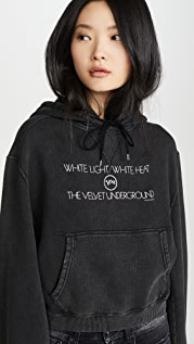 R13 Velvet Underground White Light 短款连帽上衣