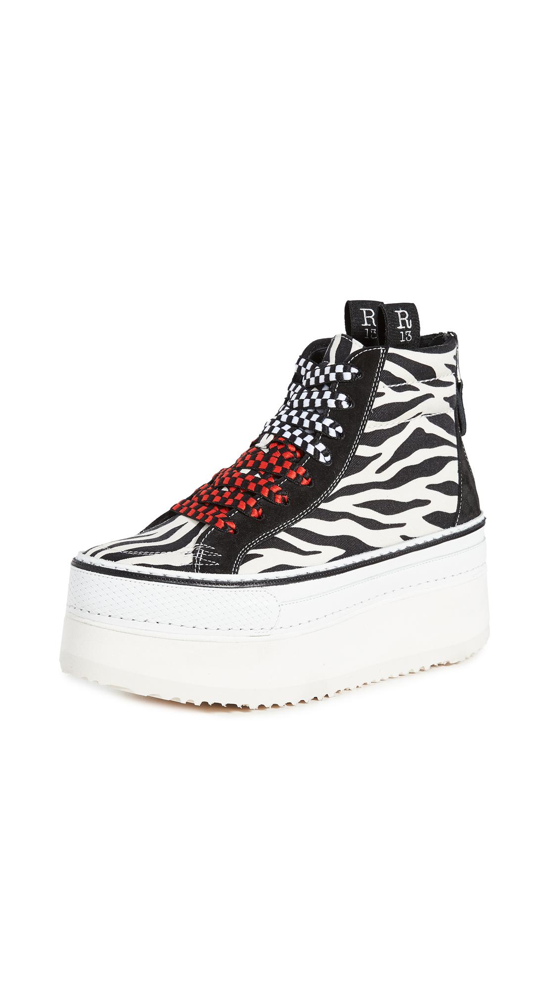 Buy R13 High Top Skate Platform Sneakers online, shop R13
