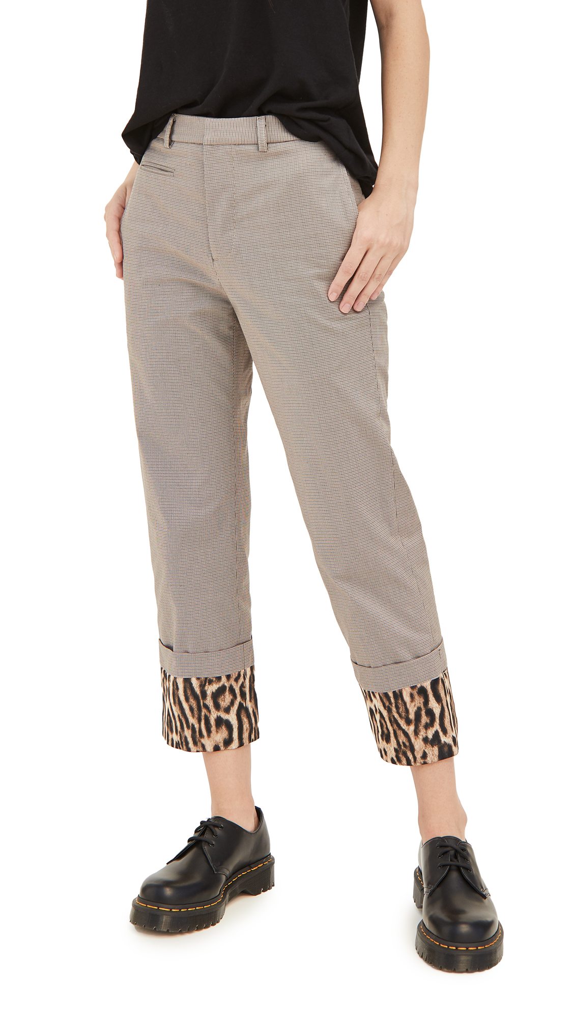 R13 Pants With Fold Over Cuffs