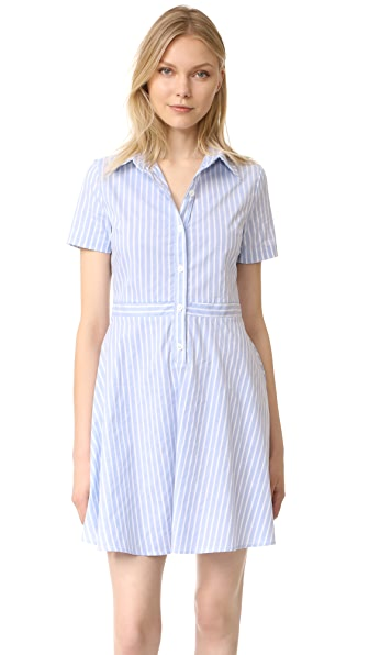RUKEN Hallie Dress - Blue Stripe