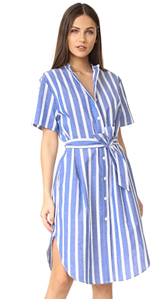 RUKEN Jenny Dress - Blue/White Stripe