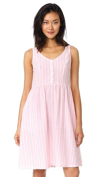 RUKEN Amalfi Long Dress - Pink Stripe