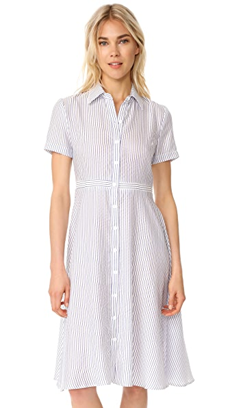 RUKEN Hal Dress - White/Blue Stripe