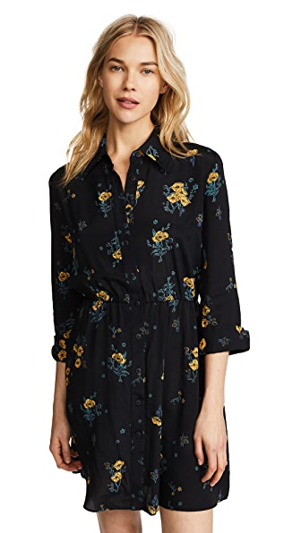RUKEN Caroline Dress in Black Floral