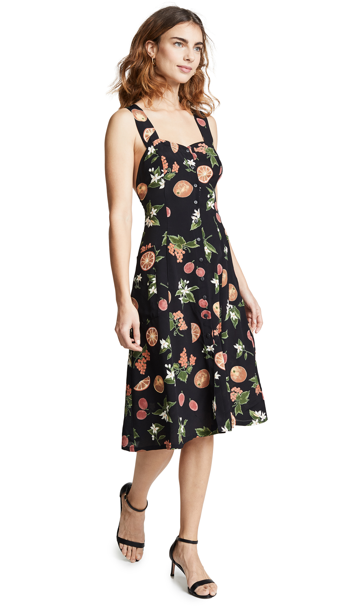 RUKEN Babe Dress in Black Fruit
