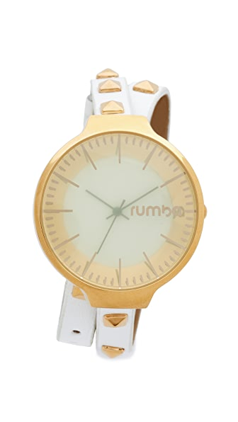 RumbaTime Orchard Snow Patrol Studded Double Wrap Watch - Snow Patrol