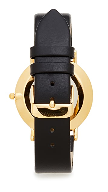 RumbaTime SoHo Leather Lights Out Watch