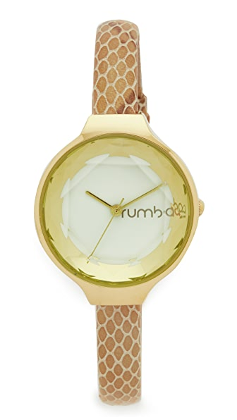 RumbaTime Orchard Gem Exotic Leather Ivory Watch - Gold/Ivory