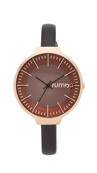 RumbaTime Orchard Leather Lights Out Watch