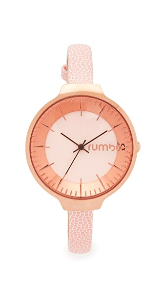 RumbaTime Orchard Leather Rose Smoke Watch