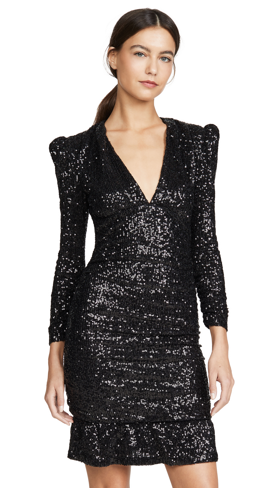 Photo of Rebecca Vallance Mona Ruched Sequin Mini Dress - shop Rebecca Vallance Clothing, Dresses online
