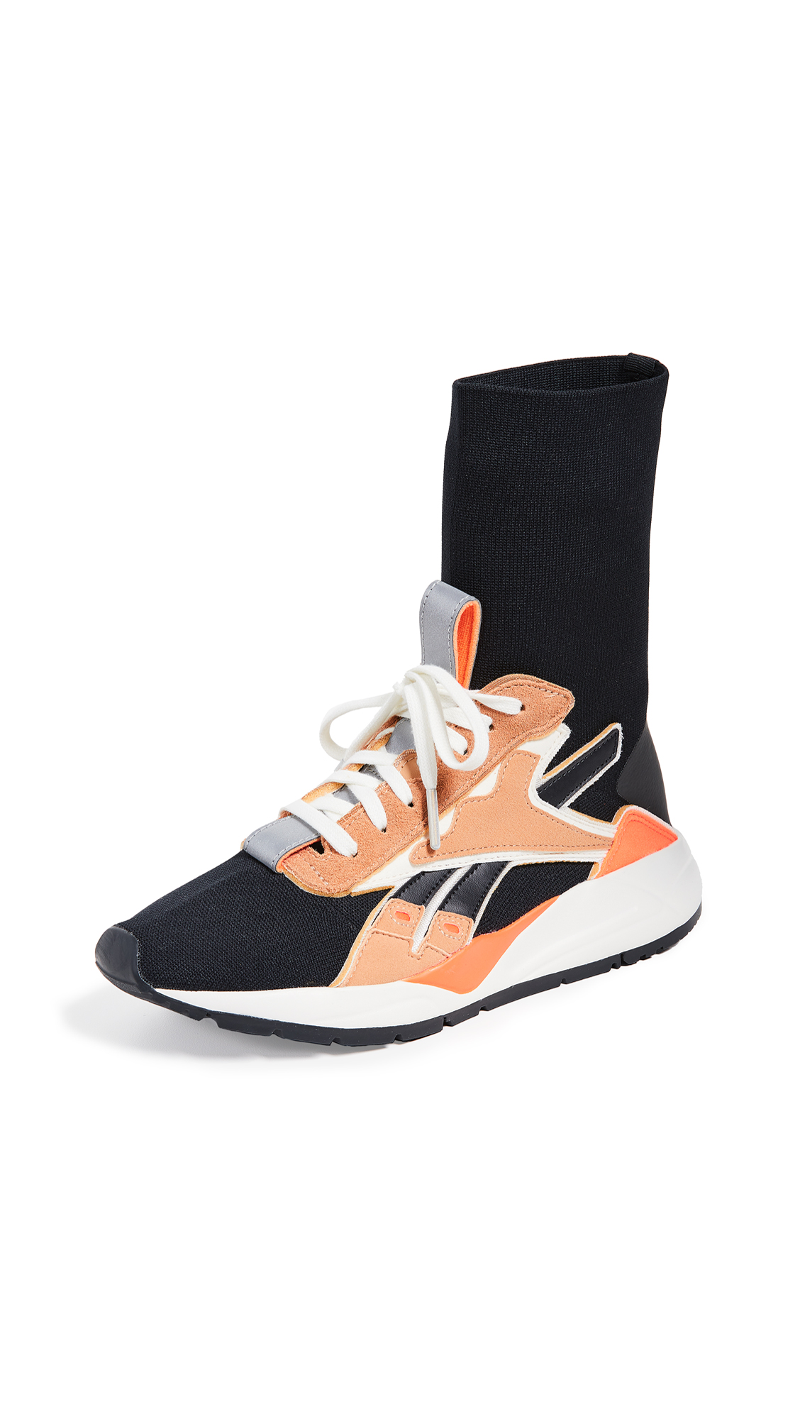 Reebok x Victoria Beckham VB Bolton Sock Sneakers - Black/Orange/Sahara/White
