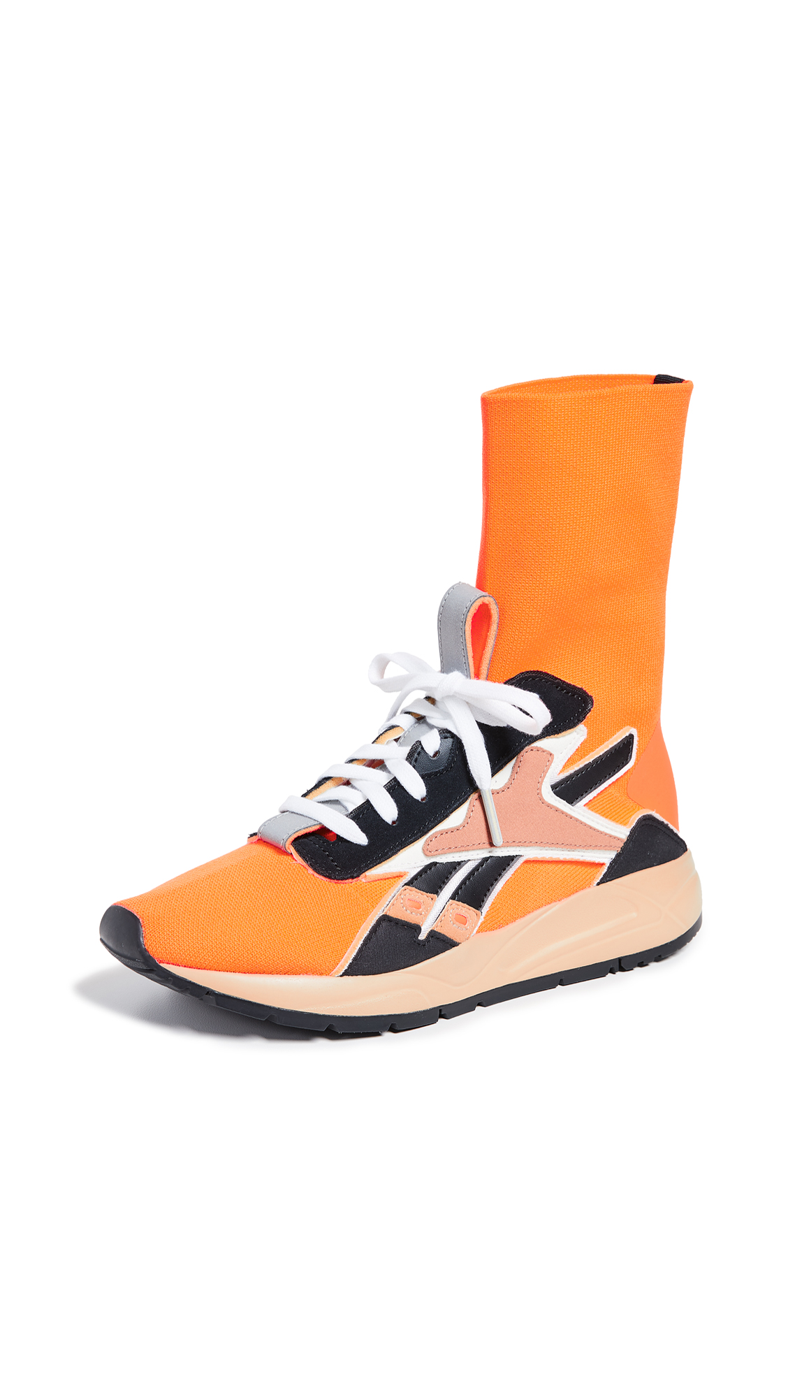 Reebok x Victoria Beckham VB Bolton Sock Sneakers - Solar Orange/Soft Camel/Black