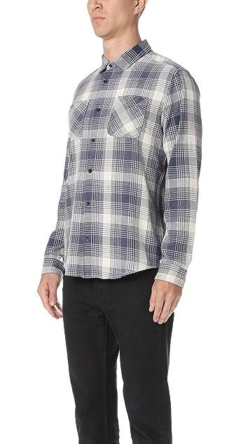 RVCA Neutral Plaid Button Down Shirt