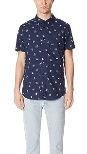RVCA Kevin Spanky Long Hummingbird Short Sleeve Shirt
