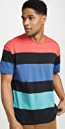 RVCA Multi Stripe Colorblocked Tee