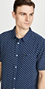 RVCA Short Sleeve Gauze Dot Shirt