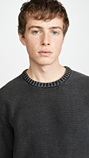 RVCA Cal Cotton Stone Washed Crew Neck Sweater