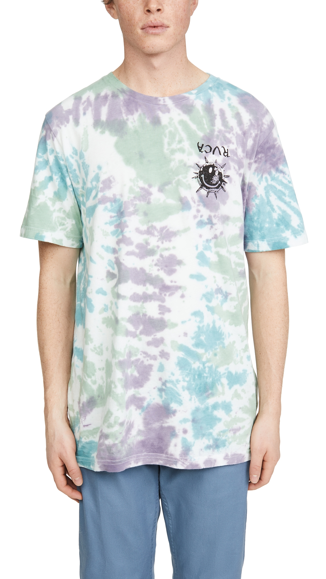 Rvca T-shirts TIE DYE MORNING STAR SHORT SLEEVE SHIRT