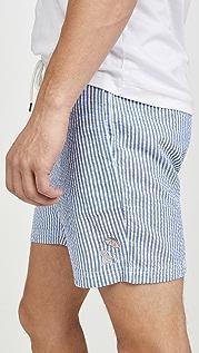 RVCA Mother Seersucker Elastic Shorts