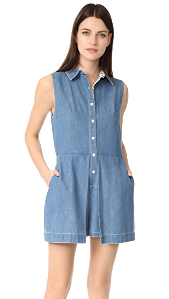 Ryder Miller Romper - Blue Composition