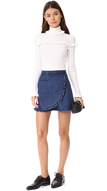 Ryder Morgan Ruffle Denim Skirt