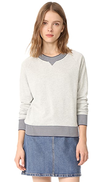Ryder Jesse Striped Edge Sweatshirt - Grey