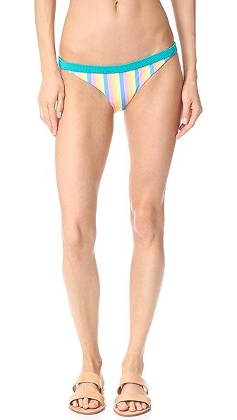 RYE Fizz Bikini Bottoms In Pastel Stripe