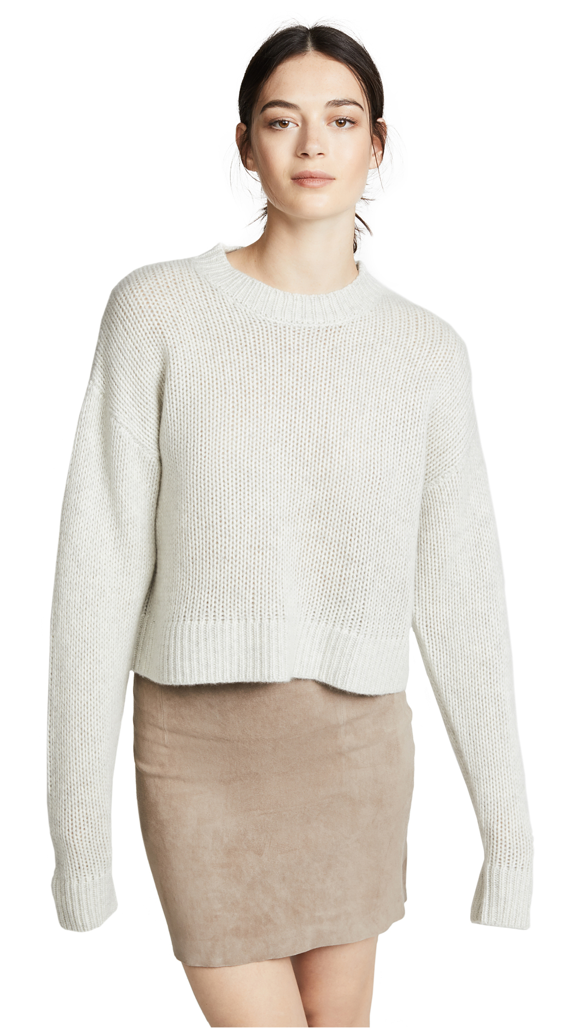 SABLYN MERCY CROPPED CHUNKY CASHMERE SWEATER