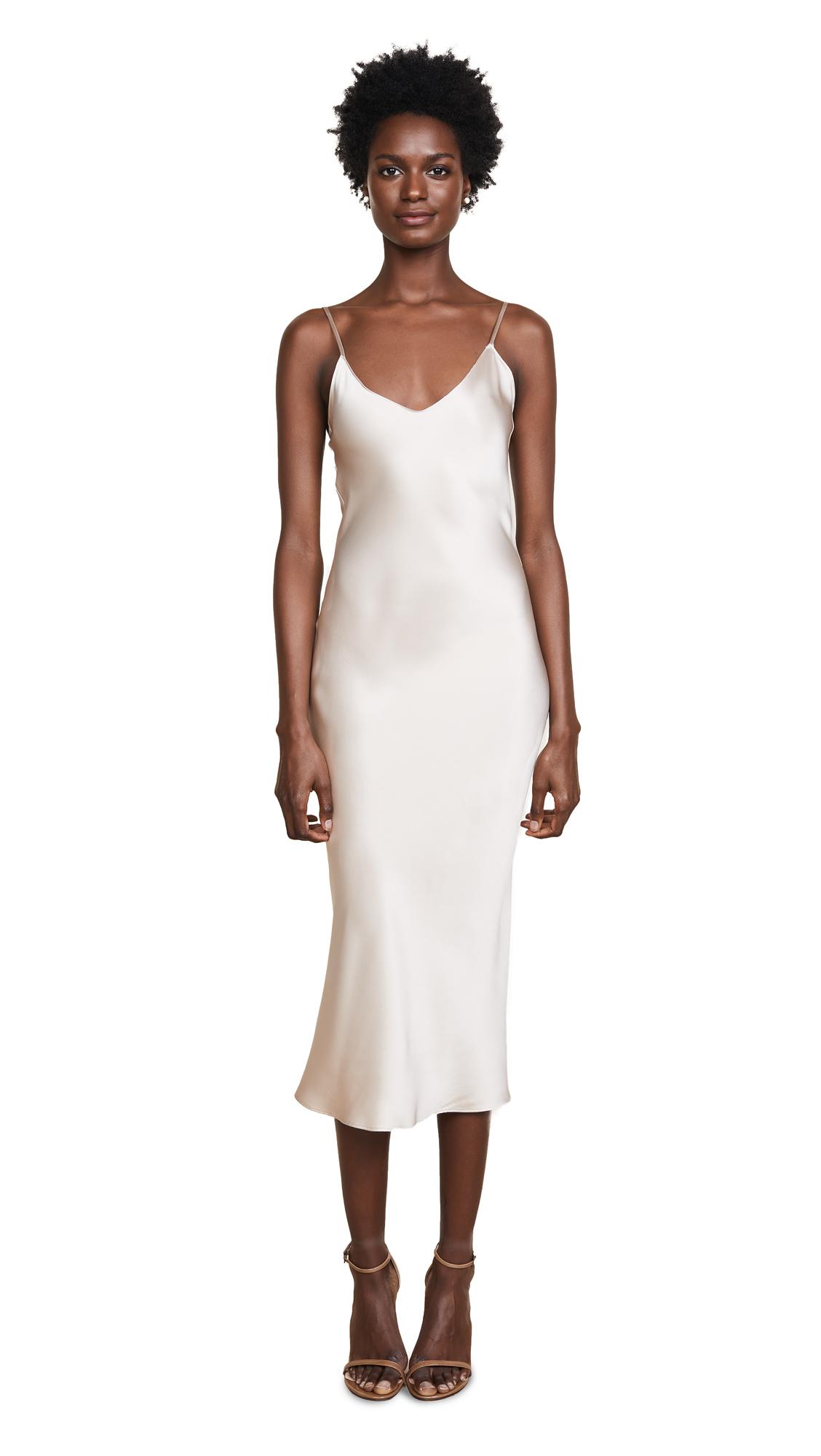 Sablyn Taylor Mid Length Slip Dress In Oatmeal