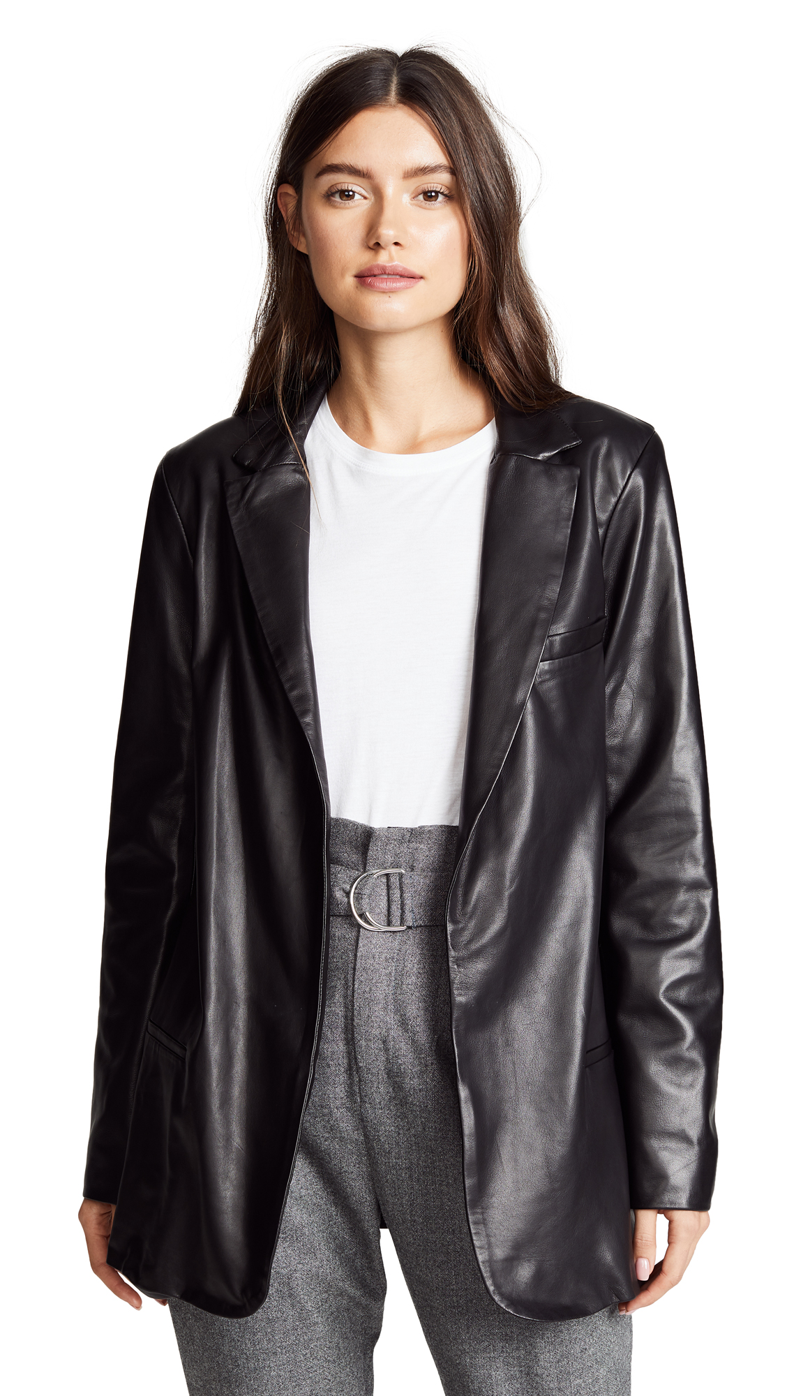 SABLYN MAGNOLIA LEATHER BLAZER