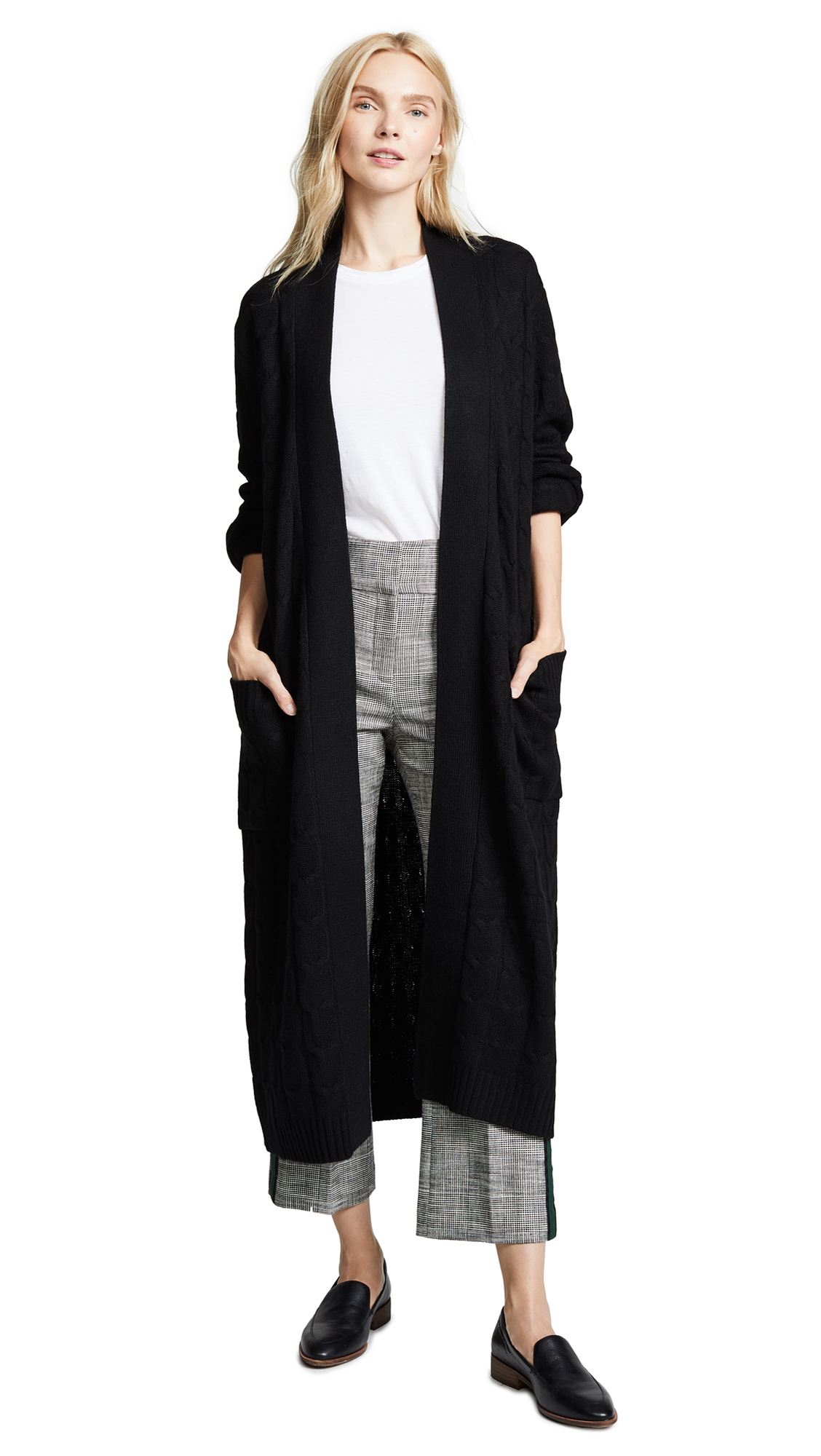 SABLYN VANESSA LONG CASHMERE CABLE COAT