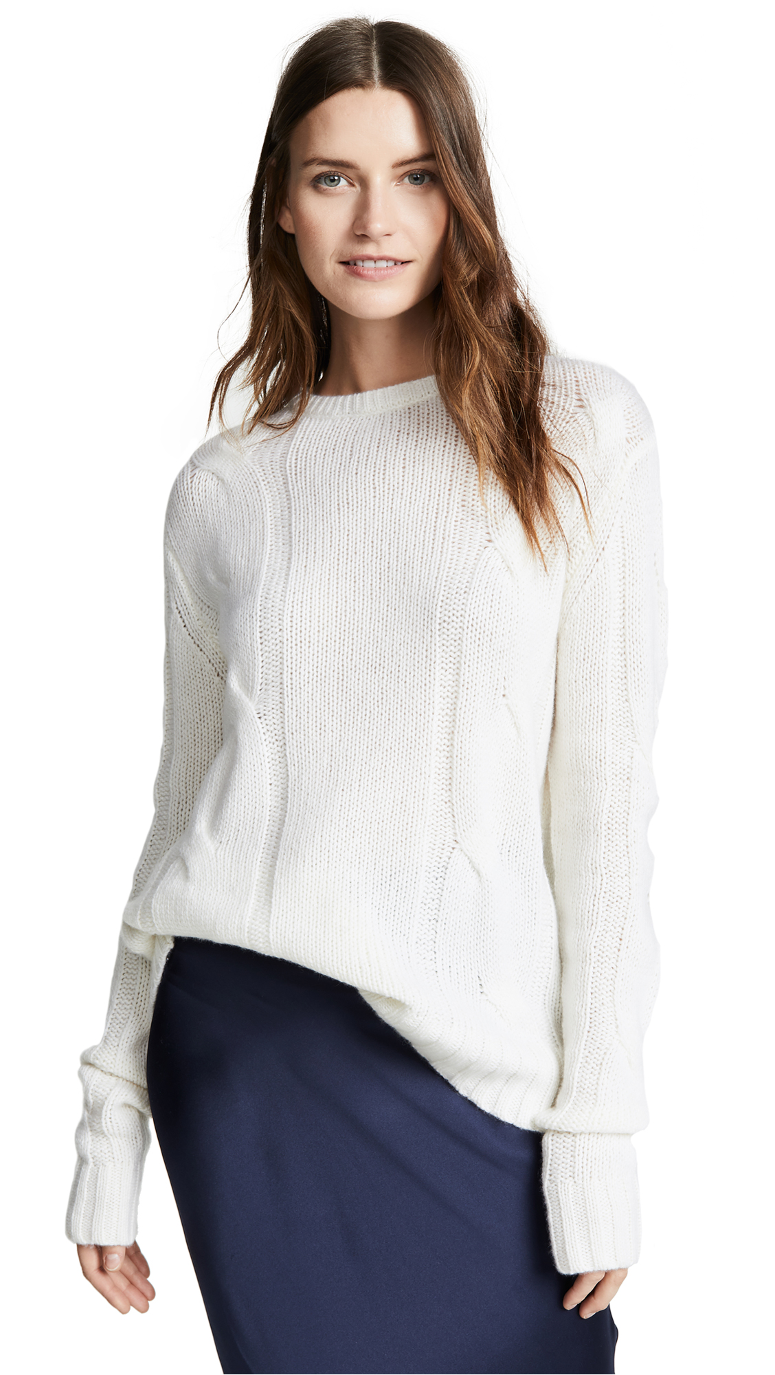 SABLYN Kate Cable Knit Sweater in Milk