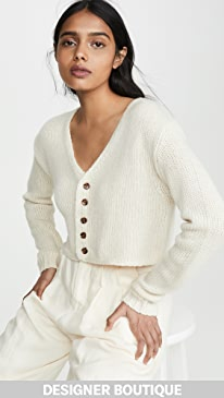 863ee6d762 Sablyn. Bianco Cropped Cashmere Cardigan