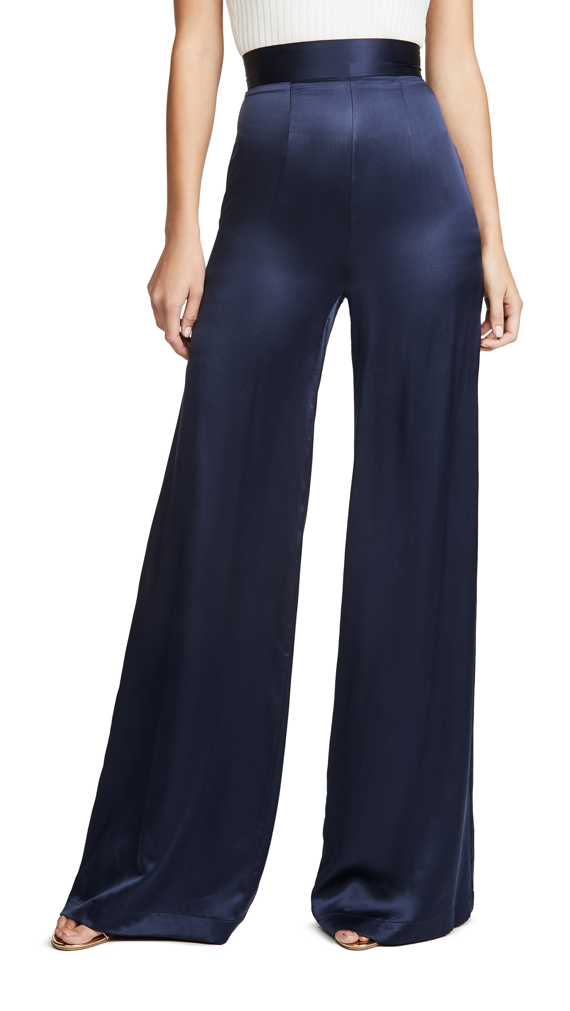 Buy Sablyn online - photo of Sablyn Satin Wide Leg Pants