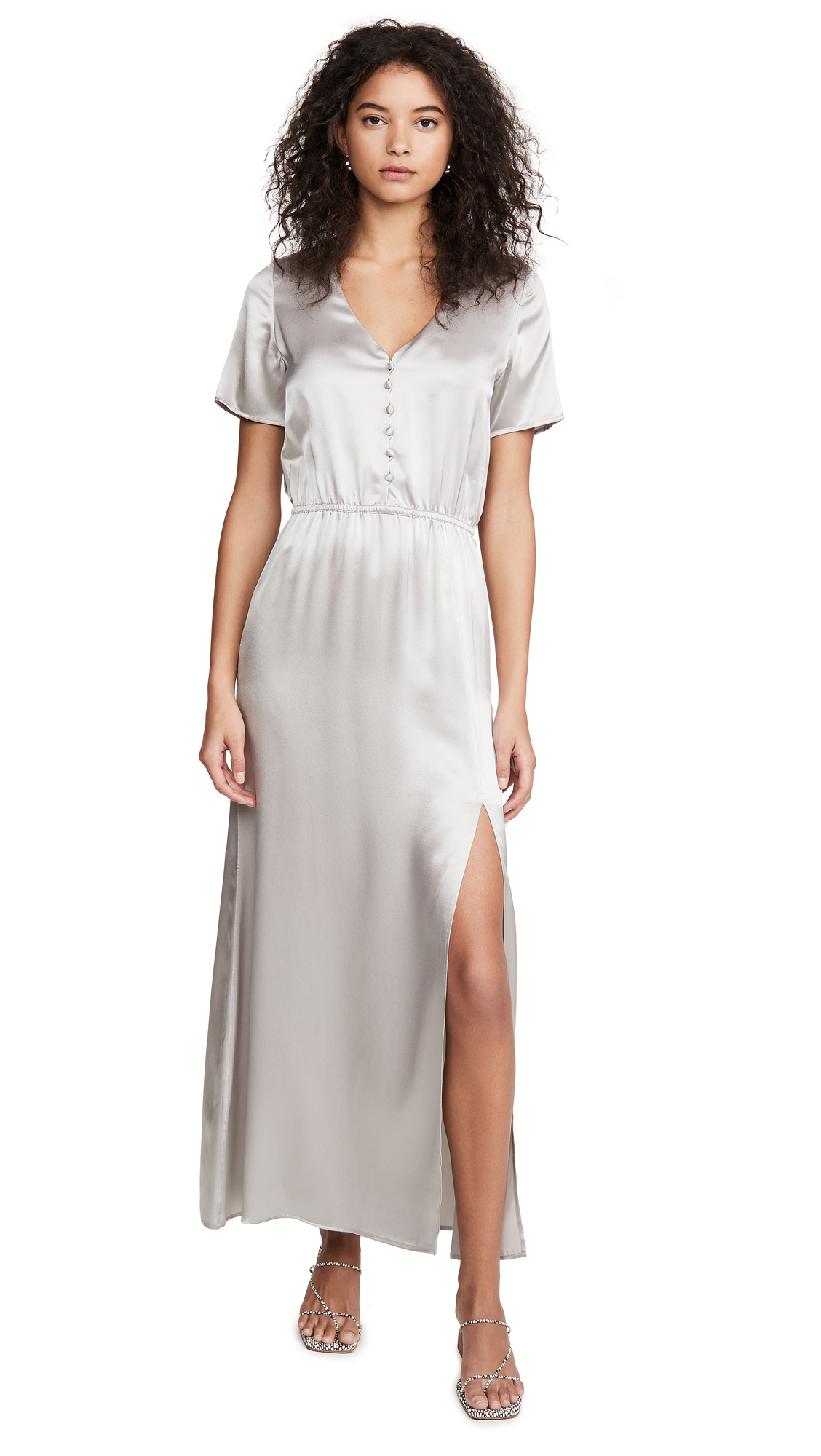 Buy Sablyn Addison Satin Button Front Dress online beautiful Sablyn Clothing, Dresses