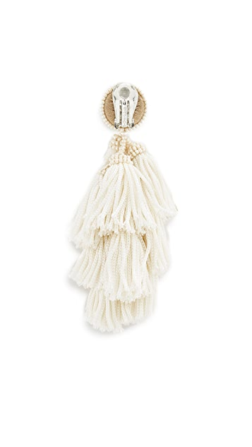 Sachin & Babi Cha Cha Fringe Clip On Earrings