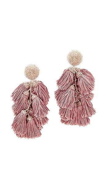 Sachin & Babi Cha Cha Fringe Clip On Earrings