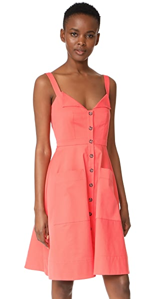 Saloni Fara Short Dress - Watermelon