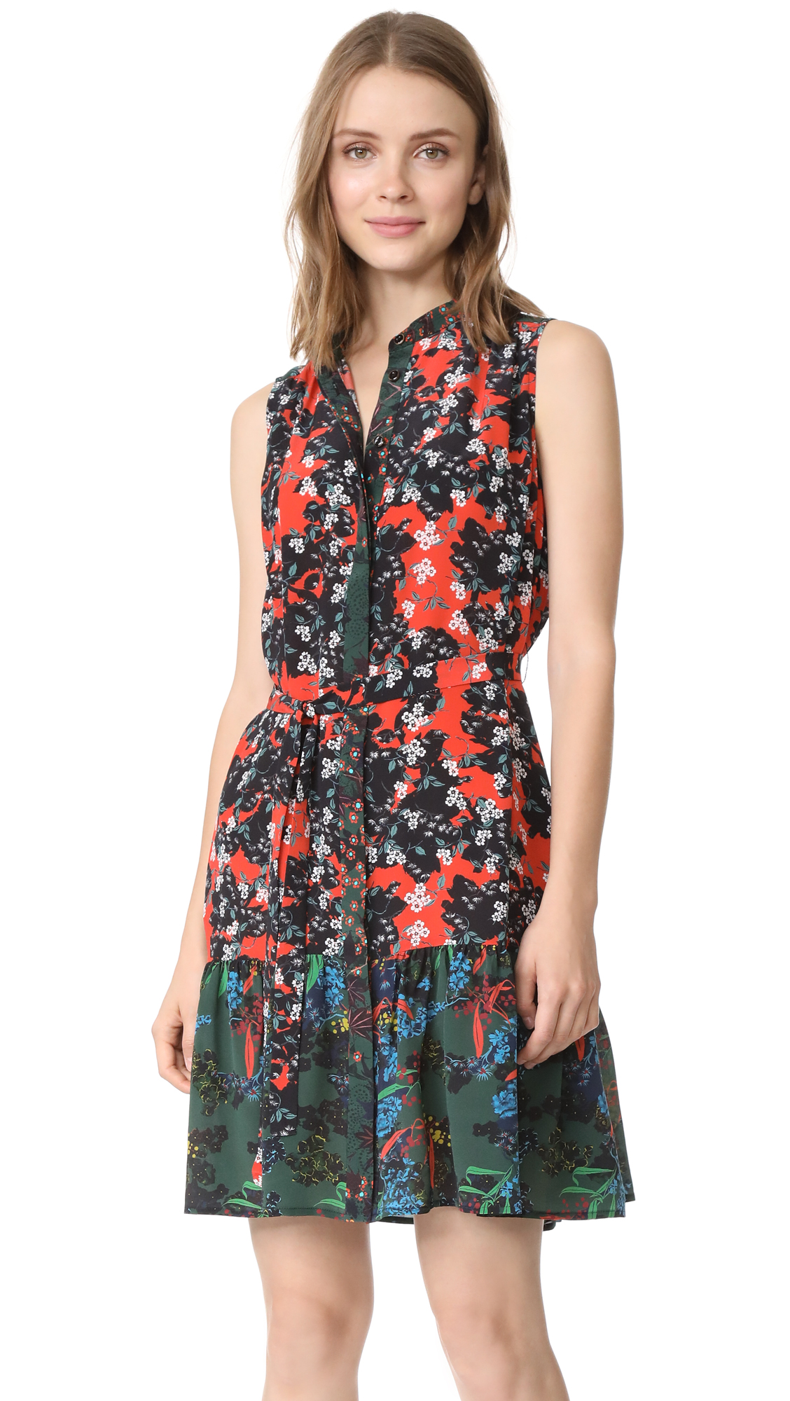 Saloni Tilly Dress - Coral Orchid